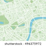 abstract city map | Shutterstock .eps vector #496375972