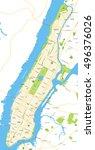 new york city map   | Shutterstock .eps vector #496376026