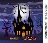 halloween. trick or treat....   Shutterstock . vector #496379302