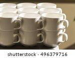 the clean tea cups | Shutterstock . vector #496379716