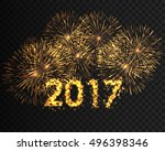 happy new year 2017 background. ... | Shutterstock .eps vector #496398346