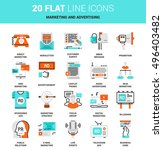 vector set of marketing and... | Shutterstock .eps vector #496403482