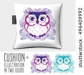 design vector pillow  cushion . ... | Shutterstock .eps vector #496409992