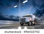 3d rendering of tanker on the... | Shutterstock . vector #496410742