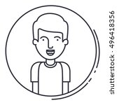isolated man cartoon design | Shutterstock .eps vector #496418356