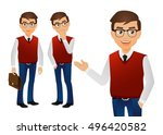 elegant people businessman | Shutterstock .eps vector #496420582