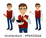 elegant people businessman | Shutterstock .eps vector #496420666