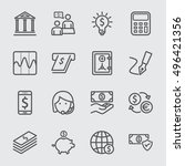 banking line icon | Shutterstock .eps vector #496421356