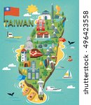 Taiwan Travel Map  With Chines...