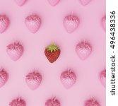 outstanding red strawberry... | Shutterstock . vector #496438336