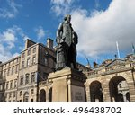 Small photo of Edinburgh Royal Mile with statute of economist and philosopher Adam Smith