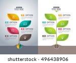 infographic tree design concept.... | Shutterstock .eps vector #496438906