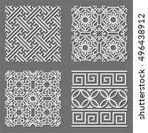 korean tradition mun tin... | Shutterstock .eps vector #496438912