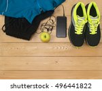 sports accessories for fitness... | Shutterstock . vector #496441822
