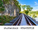 death railway  over the kwai... | Shutterstock . vector #496450918