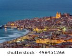 Cefalu At The North Coast Of...