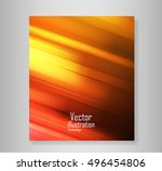 coving wave abstract vector... | Shutterstock .eps vector #496454806