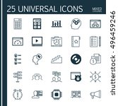 set of 25 universal icons on... | Shutterstock .eps vector #496459246