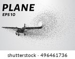 the plane of the particles.... | Shutterstock .eps vector #496461736