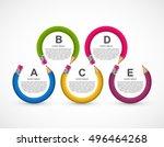 education infographic design... | Shutterstock .eps vector #496464268