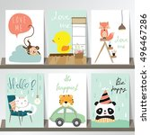colorful collection for banners ... | Shutterstock .eps vector #496467286
