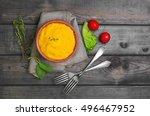 corn porridge polenta  hominy ...   Shutterstock . vector #496467952
