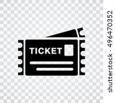 ticket icon | Shutterstock .eps vector #496470352