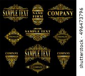 vector collection of logotypes  ... | Shutterstock .eps vector #496473796