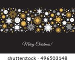 merry christmas background.... | Shutterstock .eps vector #496503148