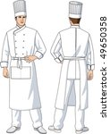 the man the cook in an apron... | Shutterstock .eps vector #49650358