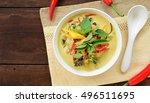 overhead view of thai green... | Shutterstock . vector #496511695