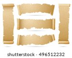 vertical and horizontal old... | Shutterstock .eps vector #496512232