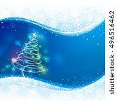 holiday background with...   Shutterstock . vector #496516462