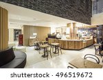 luxury boutique hotel lobby ... | Shutterstock . vector #496519672