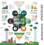 ecology   modern flat design... | Shutterstock . vector #496520182