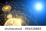 abstract technology and...   Shutterstock . vector #496528885