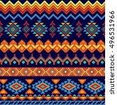 vector seamless tribal style... | Shutterstock .eps vector #496531966