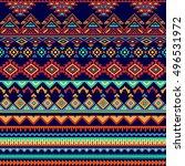 vector seamless tribal style... | Shutterstock .eps vector #496531972