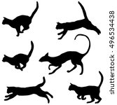 cats collection   vector... | Shutterstock .eps vector #496534438