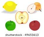 vector fruit. | Shutterstock .eps vector #49653613