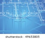 building background. plan of... | Shutterstock .eps vector #49653805