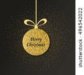 cute merry christmas background ... | Shutterstock .eps vector #496542022