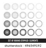set of black and white grainy... | Shutterstock .eps vector #496549192