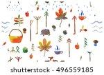 autumn pattern | Shutterstock . vector #496559185