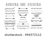 line borders  text dividers and ... | Shutterstock .eps vector #496572112
