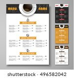 design a menu for the cafe  a... | Shutterstock .eps vector #496582042