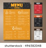 design a menu for the cafe  a... | Shutterstock .eps vector #496582048