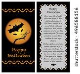 template for happy halloween... | Shutterstock .eps vector #496588156