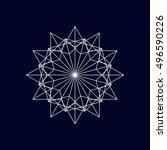 geometric element  vector. | Shutterstock .eps vector #496590226