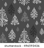 seamless pattern with christmas ... | Shutterstock .eps vector #496593436